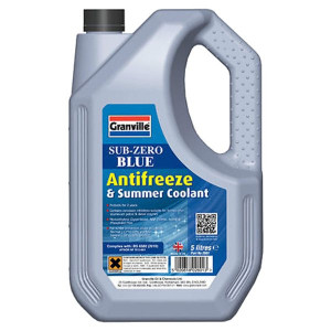 Granville Sub-Zero Blue Antifreeze & Summer Coolant - Concentrated - 5L