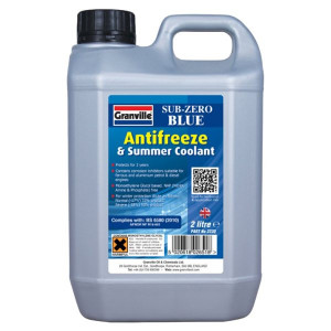 Granville Sub-Zero Blue Antifreeze & Summer Coolant - Concentrated - 2L