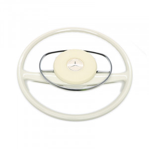 Mercedes-Benz SL W113 Pagoda, W111 & W114 Light Ivory Complete Steering Wheel Package Deal