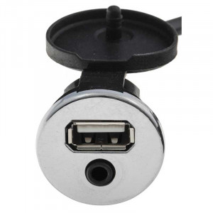 USB/Auxiliary Extension Cable, chrome