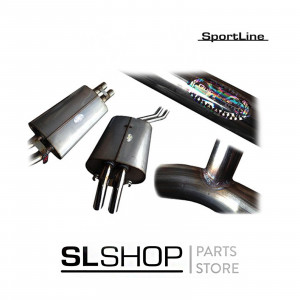 Mercedes-Benz 107 450SLC Stainless Steel Exhaust System