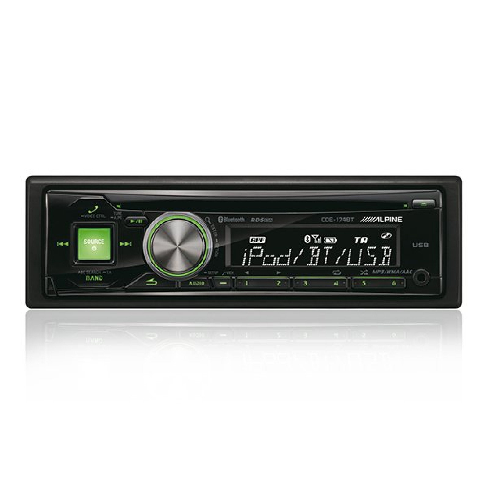 alpine cde 174bt single din radio cd mp3 bluetooth aux player stereo head unit the sl shop. Black Bedroom Furniture Sets. Home Design Ideas