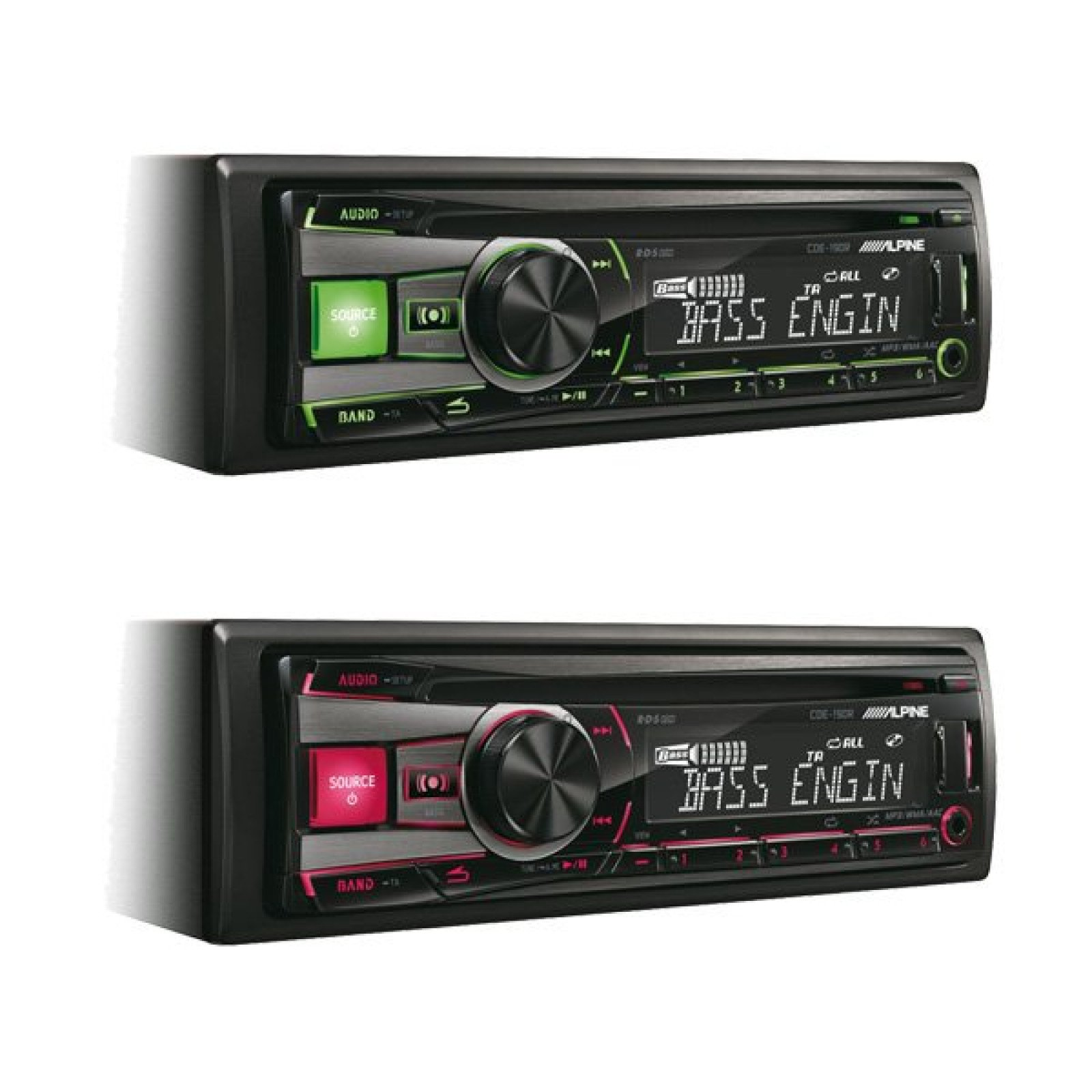 alpine cde 190r single din radio cd mp3 usb player stereo. Black Bedroom Furniture Sets. Home Design Ideas