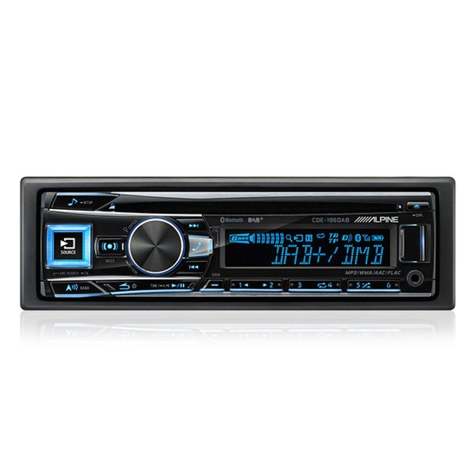 alpine cde 196dab single din radio cd mp3 bluetooth usb. Black Bedroom Furniture Sets. Home Design Ideas