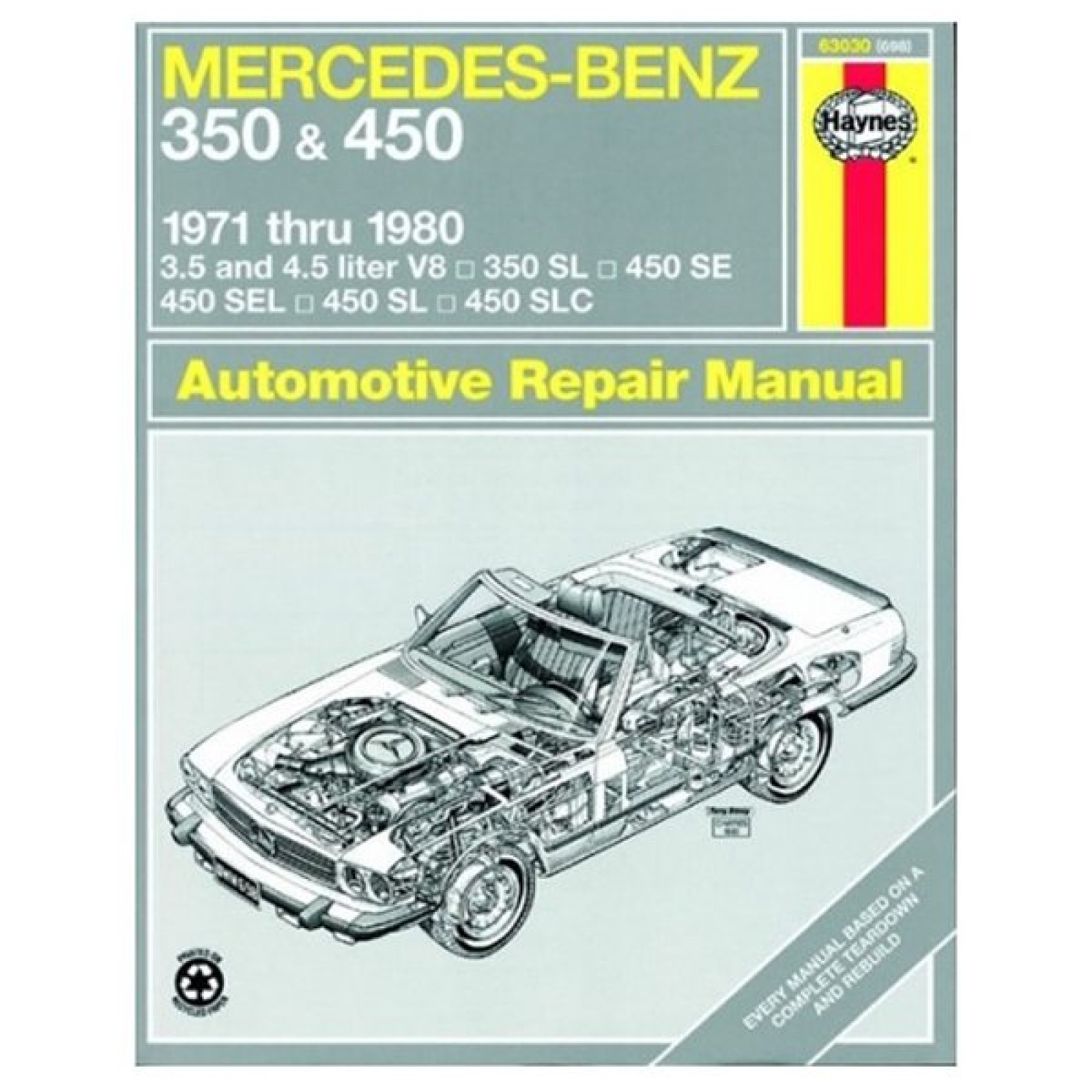Mercedes benz sl 107 350 450 haynes owner 39 s workshop for Mercedes benz manuals