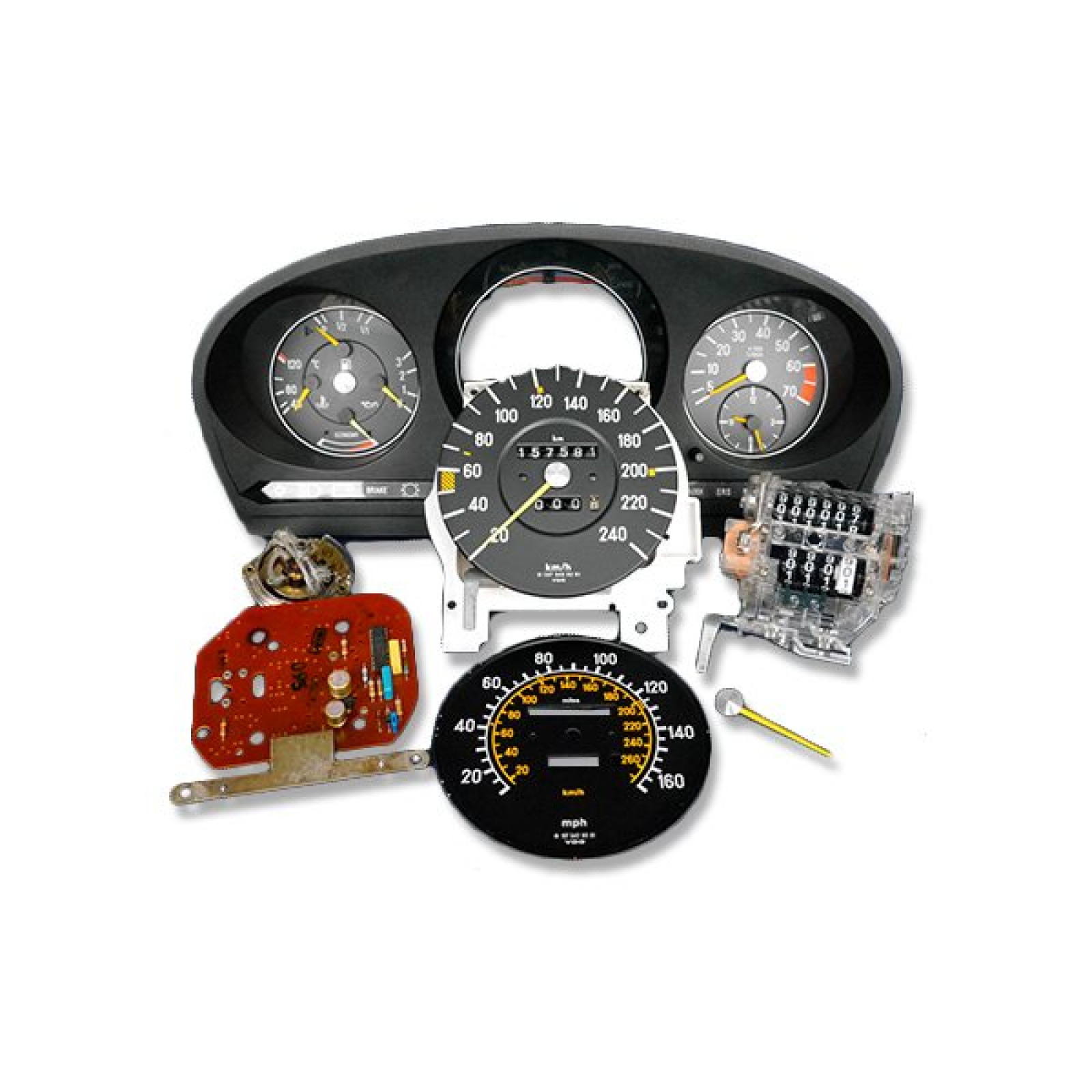 Mercedes benz sl 107 instrument cluster refurbishment for Mercedes benz upholstery repair