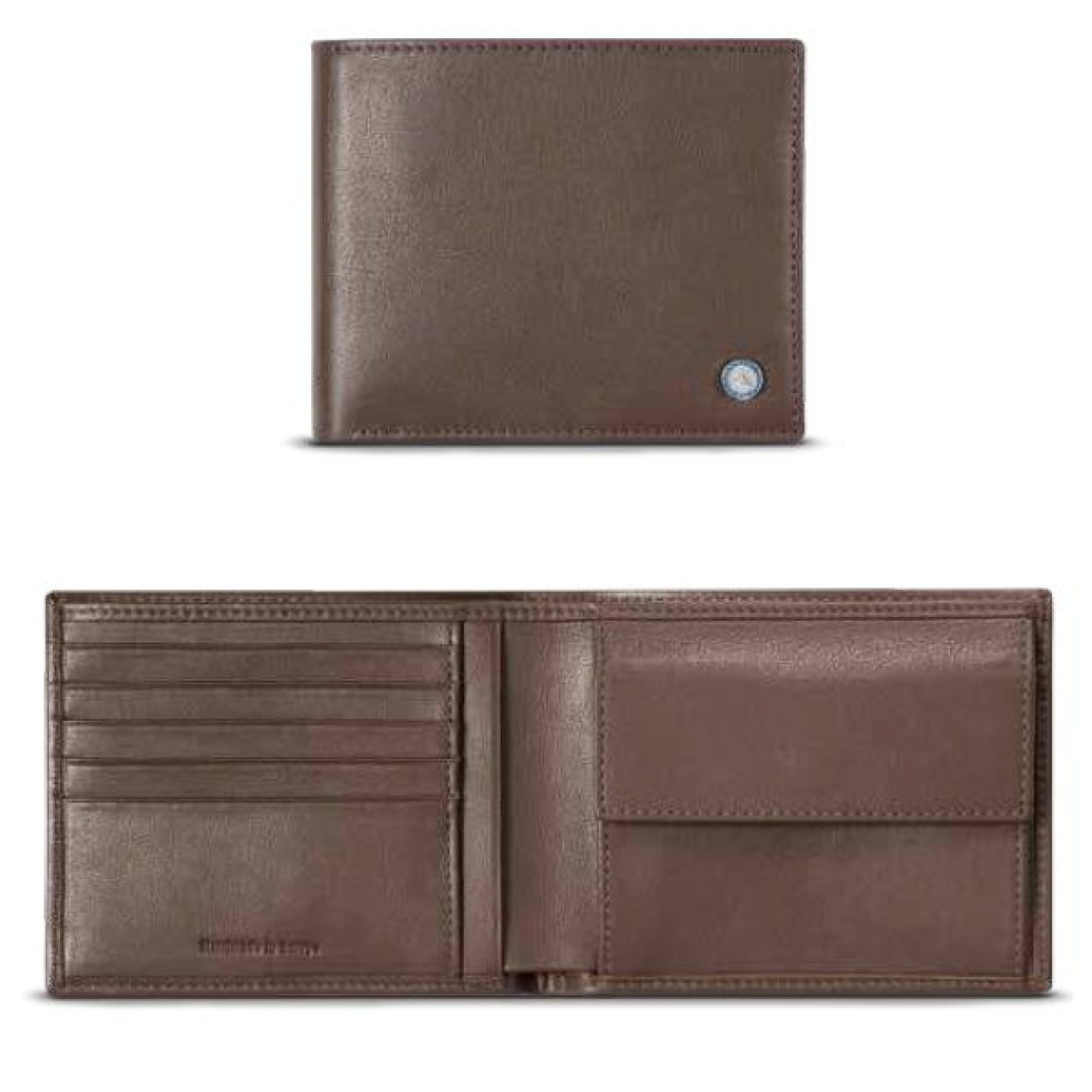 Mercedes benz official leather classic wallet brown for Mercedes benz wallet