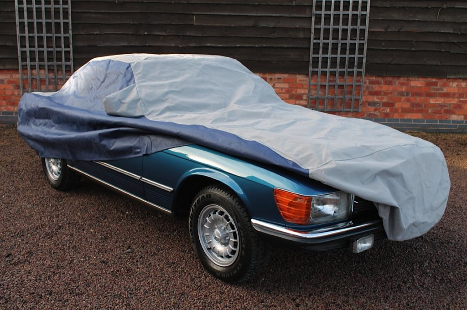Mercedes benz sl 107 custom made outdoor car cover the for Mercedes benz aftermarket accessories