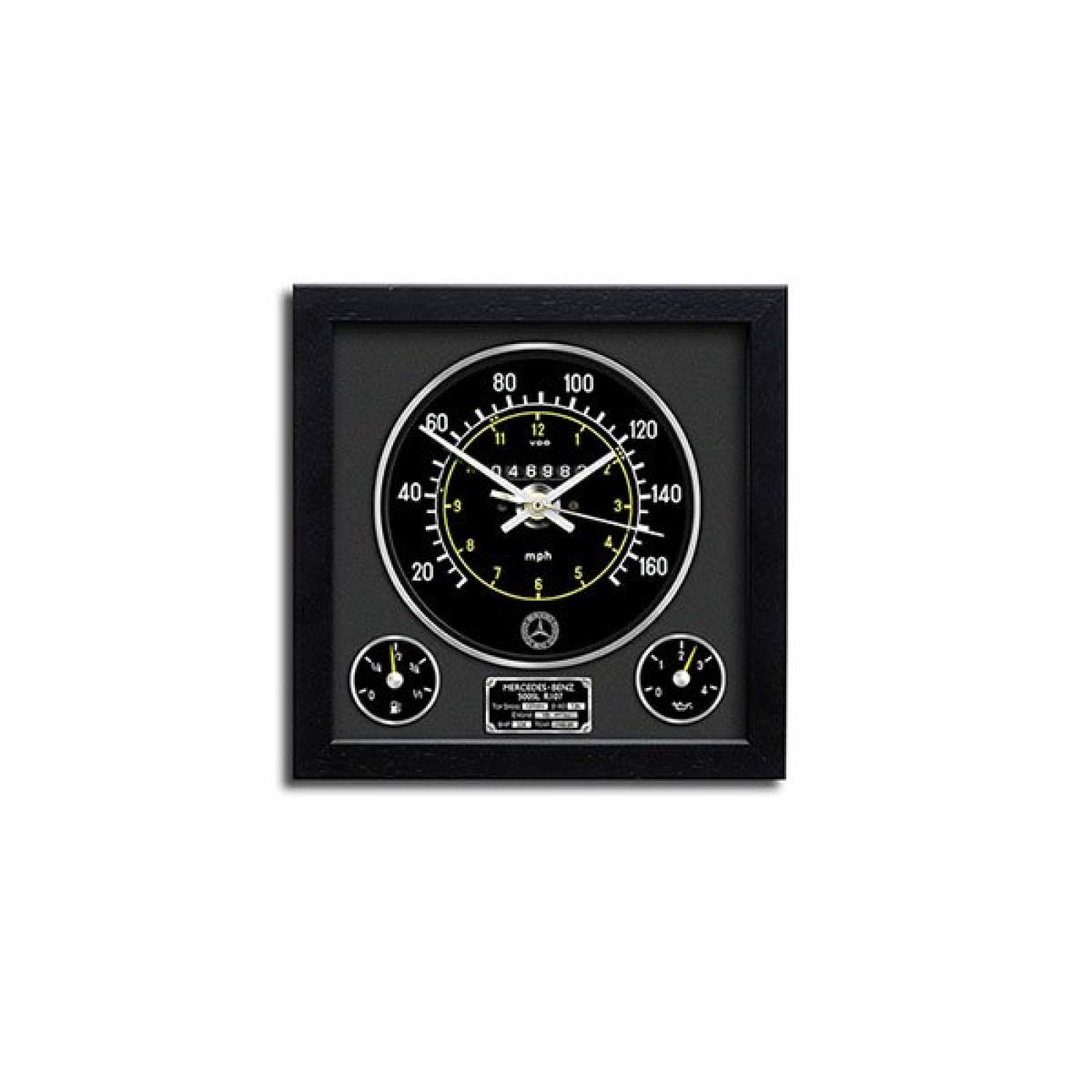 Mercedes benz 107 500sl mph speedometer wall clock the for Mercedes benz clock