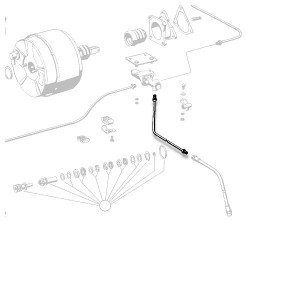 Mercedes-Benz Rear Left Solid Brake Line - 1234206028