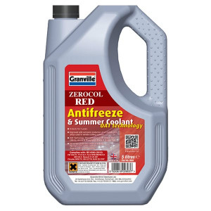 Granville Zerocol Red Antifreeze & Summer Coolant - Concentrated - 5L