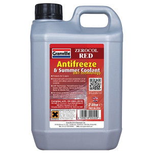 Granville Zerocol Red Antifreeze & Summer Coolant - Concentrated - 2L