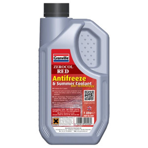 Granville Zerocol Red Antifreeze & Summer Coolant - Concentrated - 1L