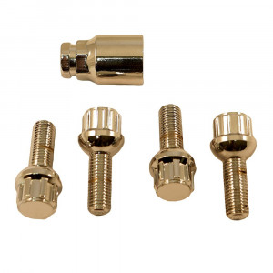 Mercedes-Benz SL 107 Mexican Hat Locking Wheel Bolt Set