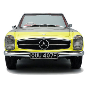 Mercedes-Benz SL W113 Pagoda Paint Protection Film Pattern - Virtually Invisible (Yellow for illustration purposes)