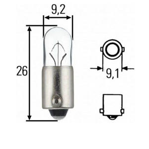 Mercedes-Benz SL 107 Front Side Light Bulb