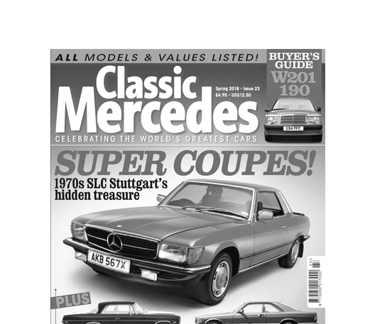 Mercedes Enthusiast magazine with link to PDF of The SL Shop feature