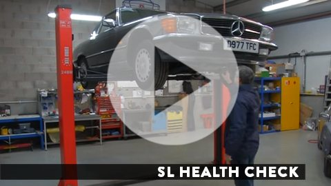 Link to SL Shop video of a health check for a Mercedes-Benz R107 SL