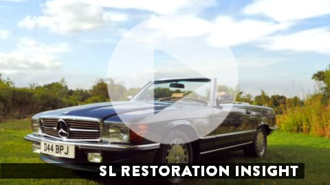 Link to SL Shop video about restoring Mercedes-Benz 107, 129 and 113 SL's