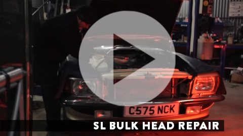 Link to SL Shop video about repairing a corroded bulkhead on a Mercedes-Benz R107 SL