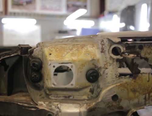 How to fix a rusty Mercedes-Benz R107 SL bulkhead