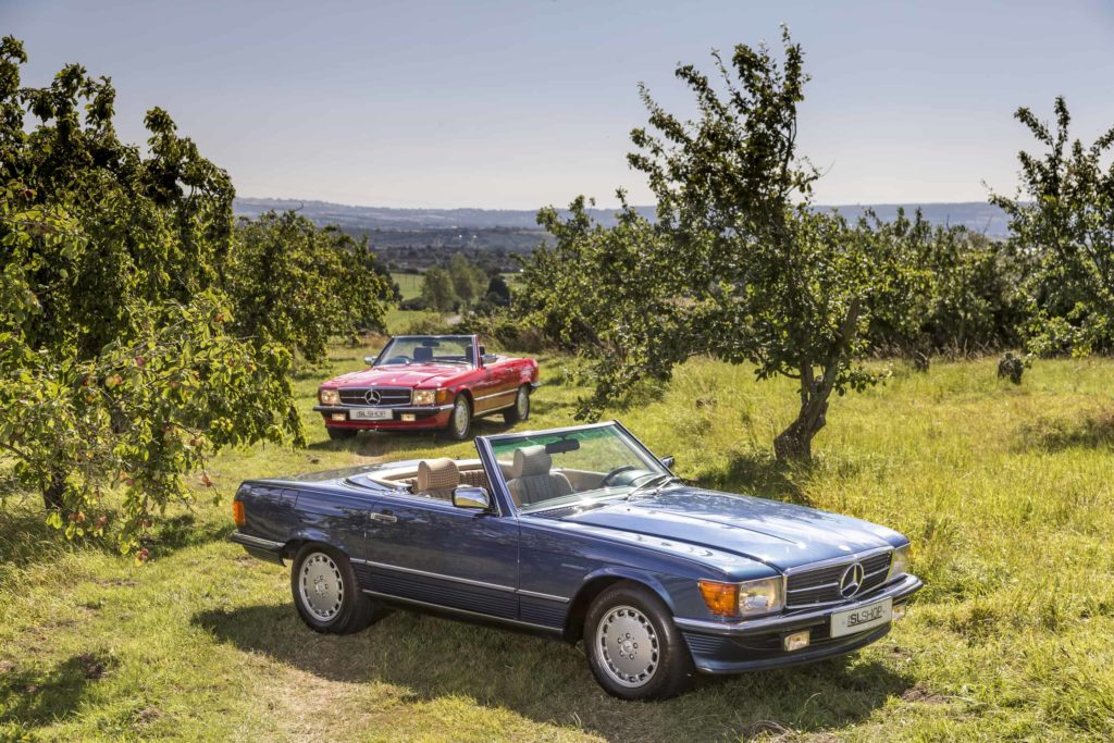 Road Trip to the Countryside in two R107 SL models