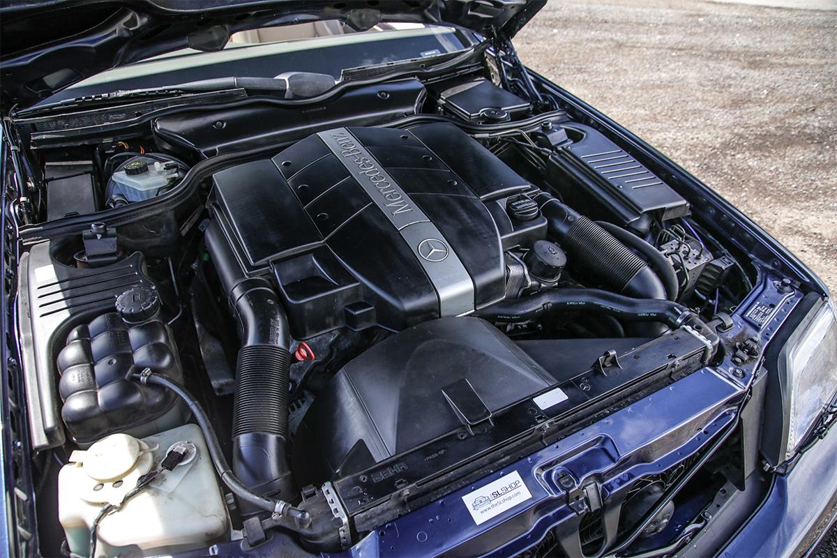 An in-line 6 engine sparkling after an SLSHOP polish.