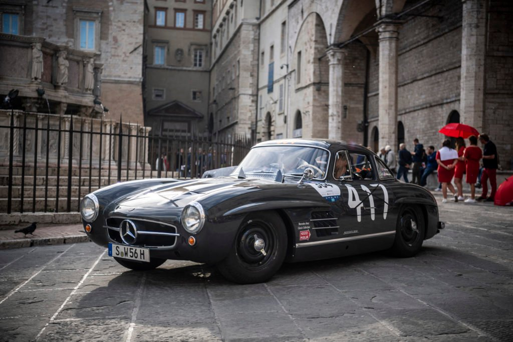 Static shot of Fortune's 300SL Gullwing somewhere in Italy