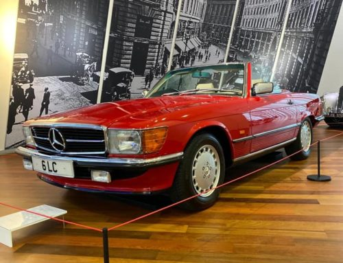Mercedes-Benz R107 SL celebrates 50th Birthday by displaying a very special SL
