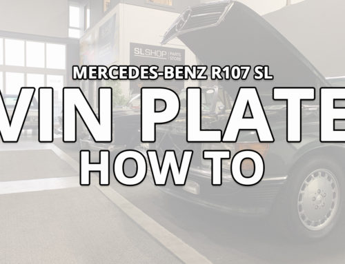 How to read a Mercedes-Benz R107 SL VIN plate