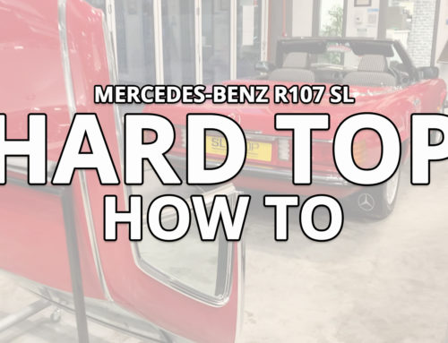 How to safely remove your Mercedes-Benz SL R107 Hard top