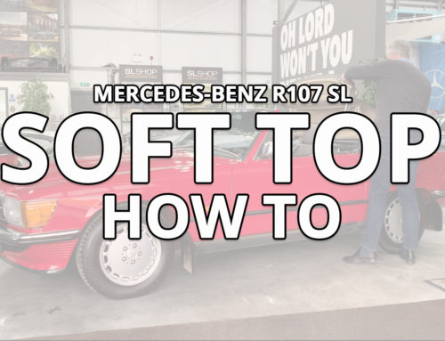 How to raise and lower your Mercedes-Benz SL R107 Soft top
