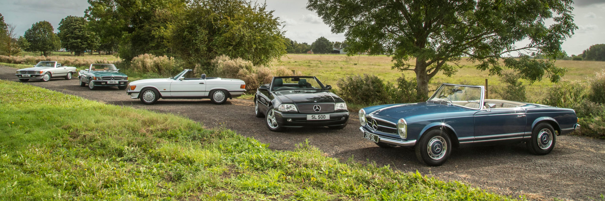 A collection of 3 different generations of SLs