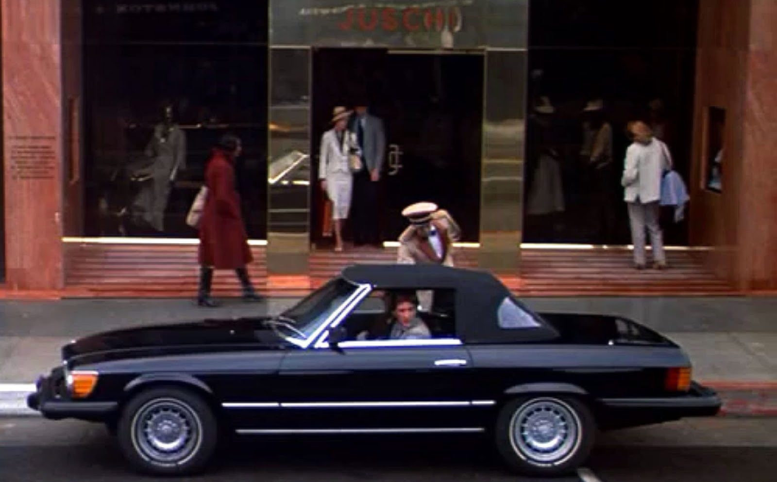 Richard Gere driving a Mercedes R107 in American Gigolo, 1980