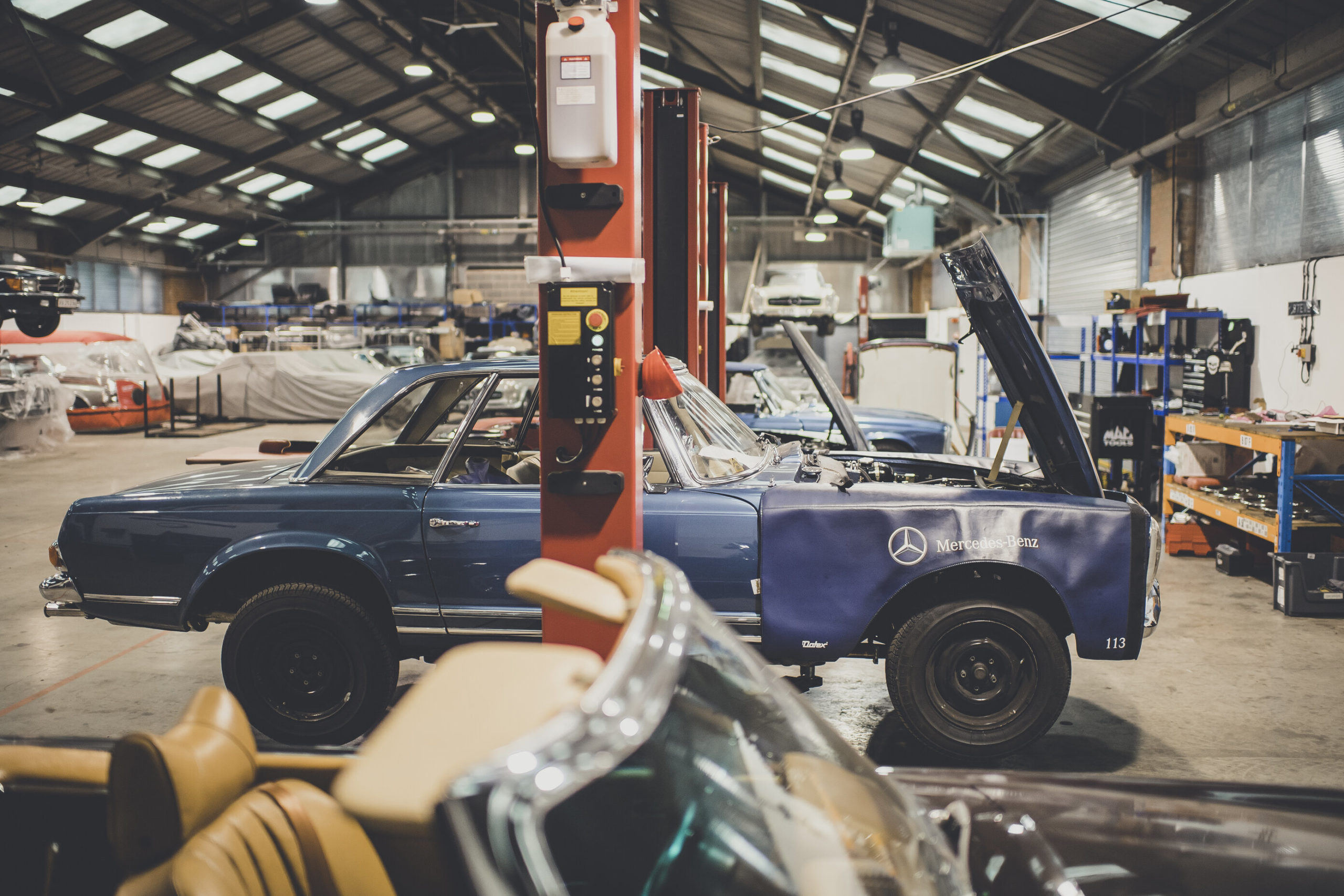 SLSHOP's Workshop where we replace parts that could be affected by E10 Fuel