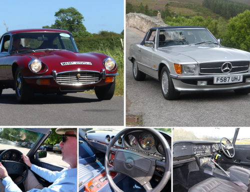 50 YEARS OF R107 SL AND V12 E-TYPE