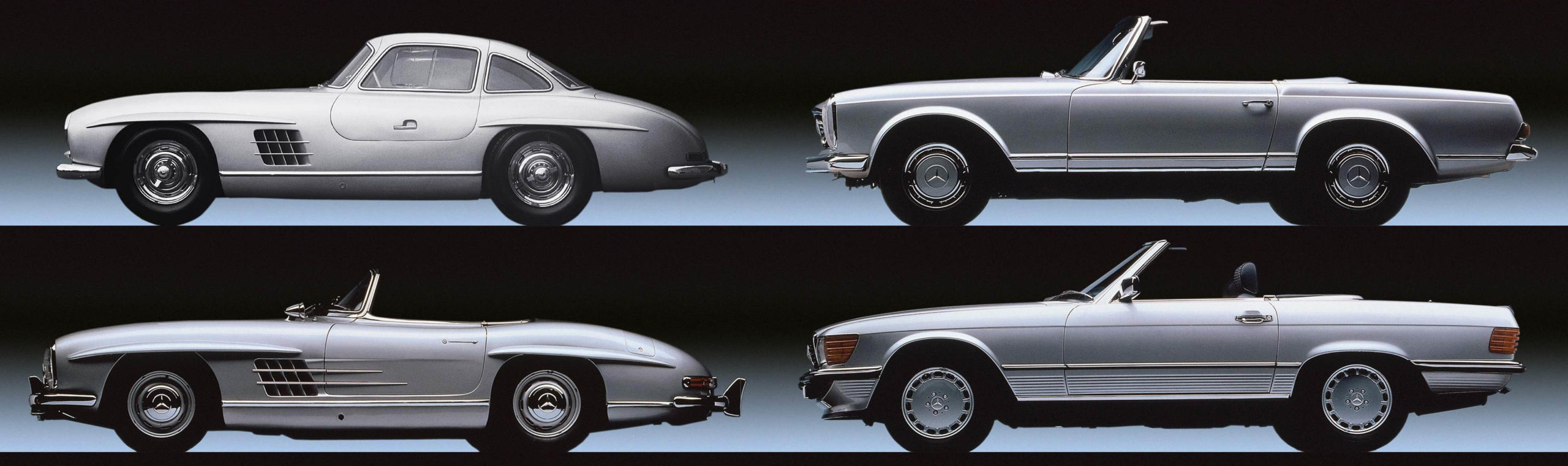 The Mercedes-Benz SL through the years.